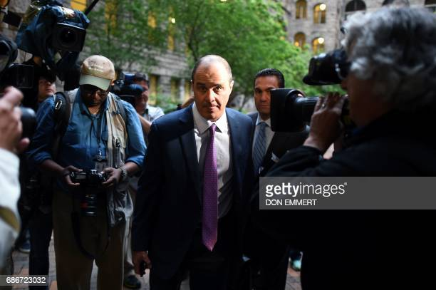 Brian McMonagle criminal defense attorney for US comedian Bill Cosby arrives at the Allegheny County Courthouse in Pittsburgh Pennsylvania on May 22...