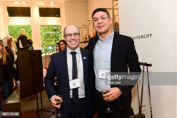 Brian Meyers and Werner Orellana attend the Barneys New York Foundation and Simon Doonan Celebrate UNICEF USA on May 11 2017 in Philadelphia...