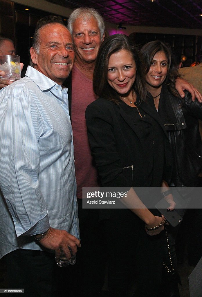 Brian Miller, Andy Kronfeld, Jayna Salvatore and May Miller attend an exclusive event with DuJour's Jason Binn and Nicole Vecchiarelli to celebrate the 'Steven Tyler...Out On A Limb' charity show benefitting Janie's Fund at LAVO on April 30, 2016 in New York City.