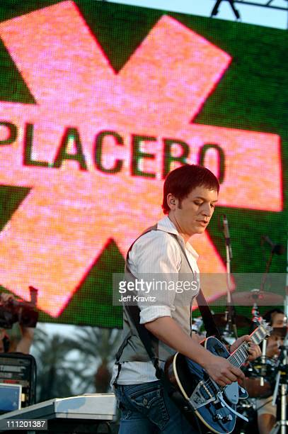 Brian Molko of Placebo during Coachella Valley Music and Arts Festival Day 3 Placebo at Empire Polo Field in Indio California United States