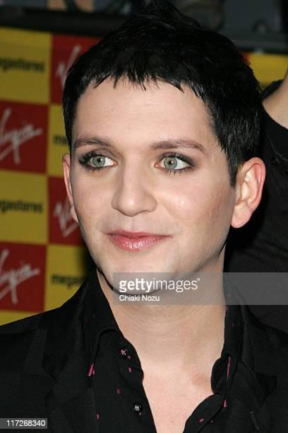 Brian Molko of Placebo during Placebo InStore Album Signing at Virgin Megastore in London March 15 2006 at Virgin Megastores in London Great Britain