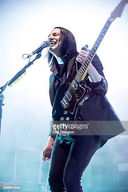 Brian Molko of Placebo performs at O2 Academy Birmingham on March 17 2015 in Birmingham England