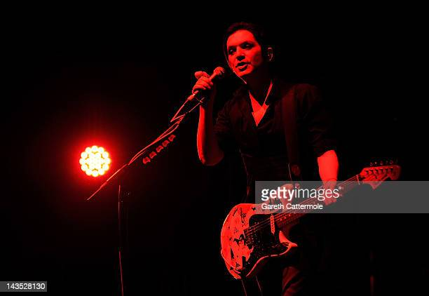 Brian Molko of Placebo performs during Sundance London at Indigo2 at O2 Arena on April 28 2012 in London England