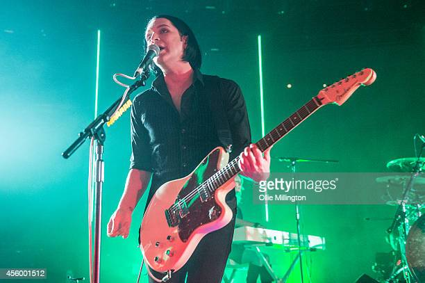Brian Molko of Placebo performs headlining the 23rd night of the 2014 iTunes Festival at The Roundhouse on September 23 2014 in London England
