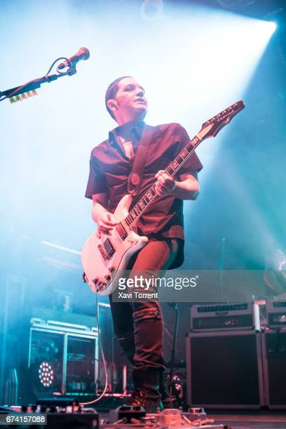 Brian Molko of Placebo performs in concert during the 20 Years Tour at Razzmatazz on April 27 2017 in Barcelona Spain