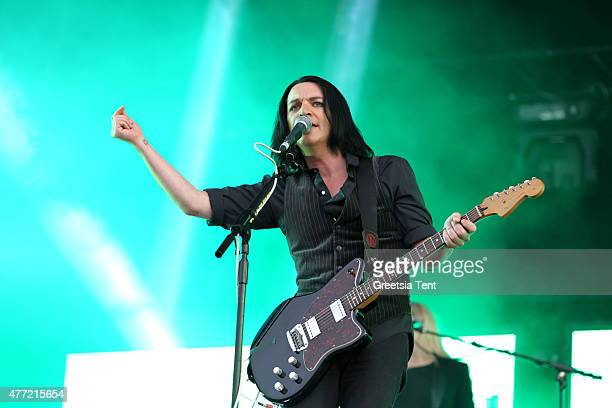 Brian Molko of Placebo performs live during the Pinkpop Festival at Megaland on June 14 2015 in Landgraaf Netherlands