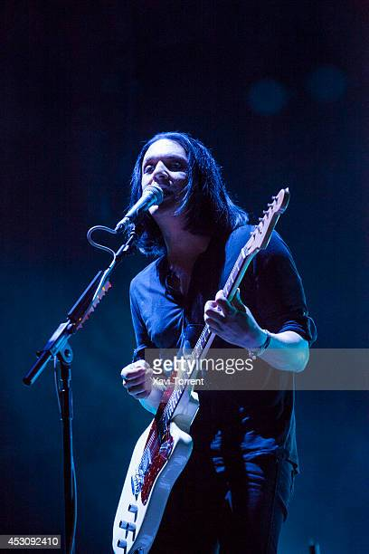 Brian Molko of Placebo performs on stage at Arenal Sound 2014 on August 2 2014 in Barcelona Spain