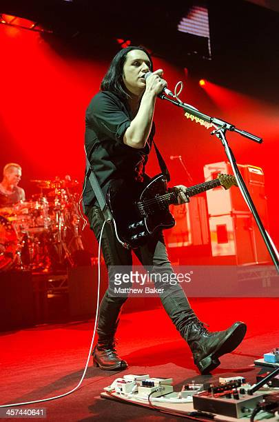 Brian Molko of Placebo performs on stage at Brixton Academy on December 17 2013 in London United Kingdom