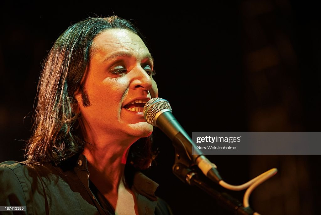 Brian Molko of Placebo performs on stage at O2 Academy on November 8, 2013 in Leeds, United Kingdom.