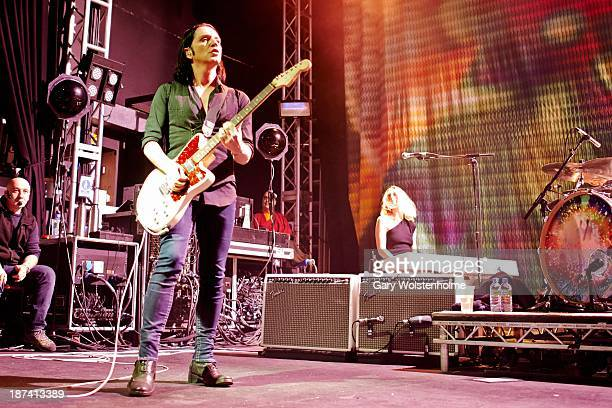 Brian Molko of Placebo performs on stage at O2 Academy on November 8 2013 in Leeds United Kingdom