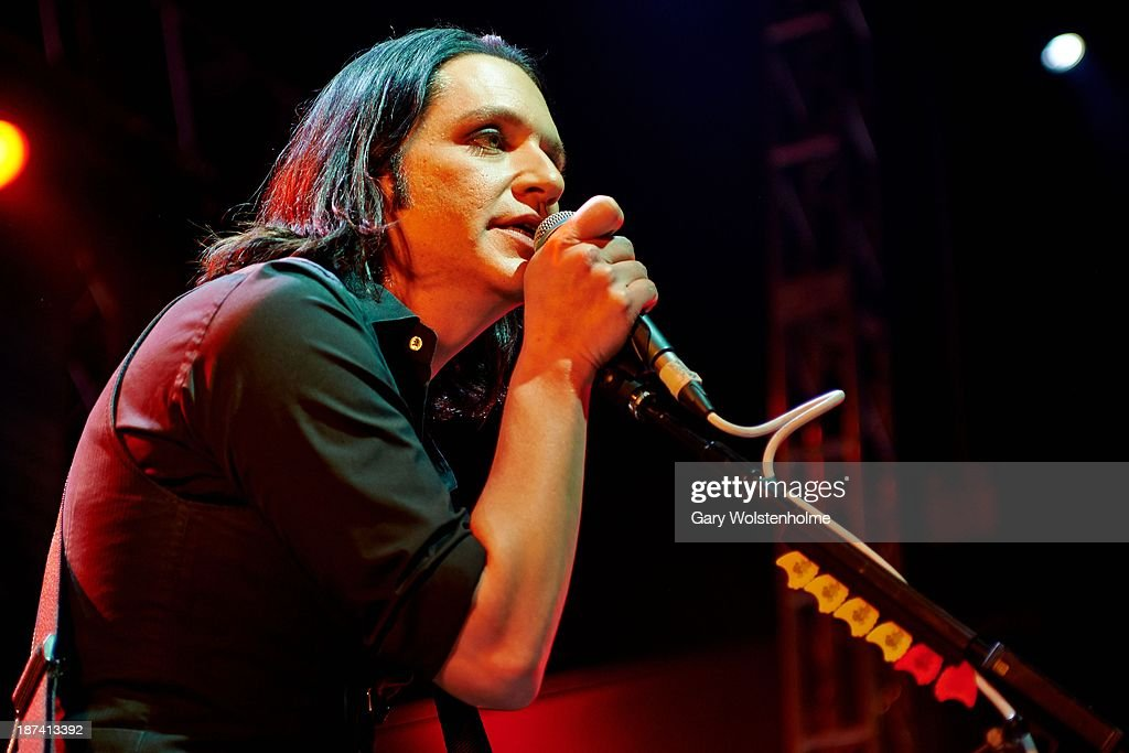 <a gi-track='captionPersonalityLinkClicked' href=/galleries/search?phrase=Brian+Molko&family=editorial&specificpeople=540626 ng-click='$event.stopPropagation()'>Brian Molko</a> of Placebo performs on stage at O2 Academy on November 8, 2013 in Leeds, United Kingdom.
