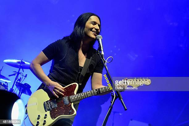 Brian Molko of Placebo performs onstage during day 2 of Rock Zottegem at Bevegemse Vijvers on July 11 2015 in Zottegem Belgium