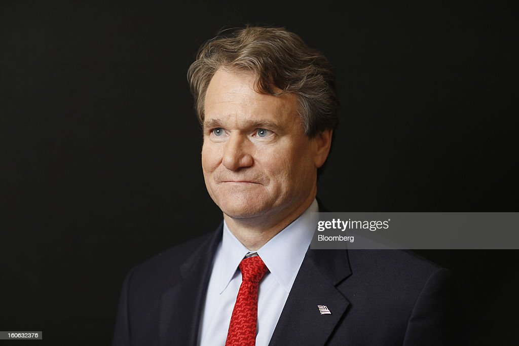 Brian Moynihan, president and chief executive officer of Bank of America Corp., poses for a photograph following a Bloomberg Television interview on day three of the World Economic Forum (WEF) in Davos, Switzerland, on Friday, Jan. 25, 2013. World leaders, influential executives, bankers and policy makers attend the 43rd annual meeting of the World Economic Forum in Davos, the five day event runs from Jan. 23-27. Photographer: Simon Dawson/Bloomberg via Getty Images