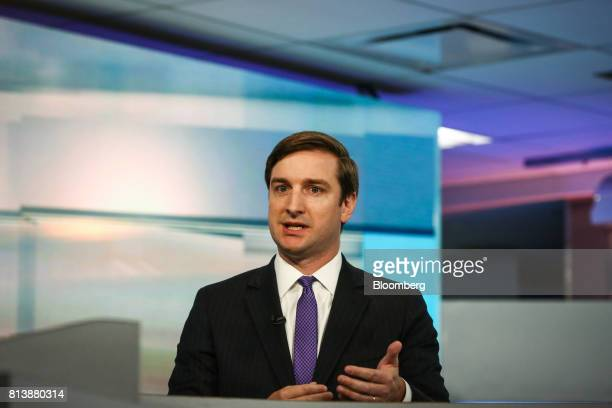 Brian Nick chief investment strategist for TIAA CREF Investment Management LLC speaks during a Bloomberg Television interview in New York US on...