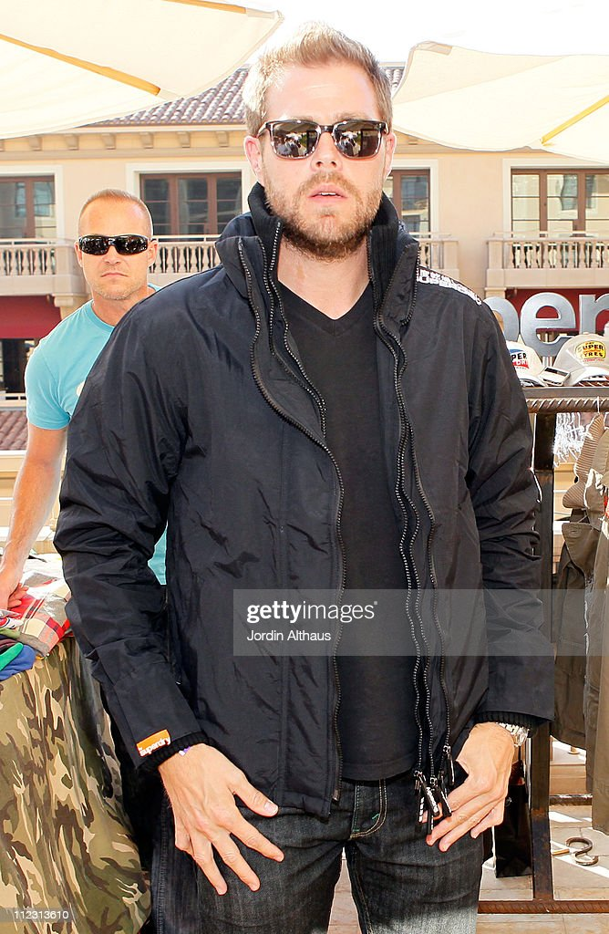 Brian O' Connelly poses with Superdry at the Kari Feinstein MTV Movie Awards Style Lounge held at Montage Beverly Hills on June 4, 2010 in Beverly Hills, California.