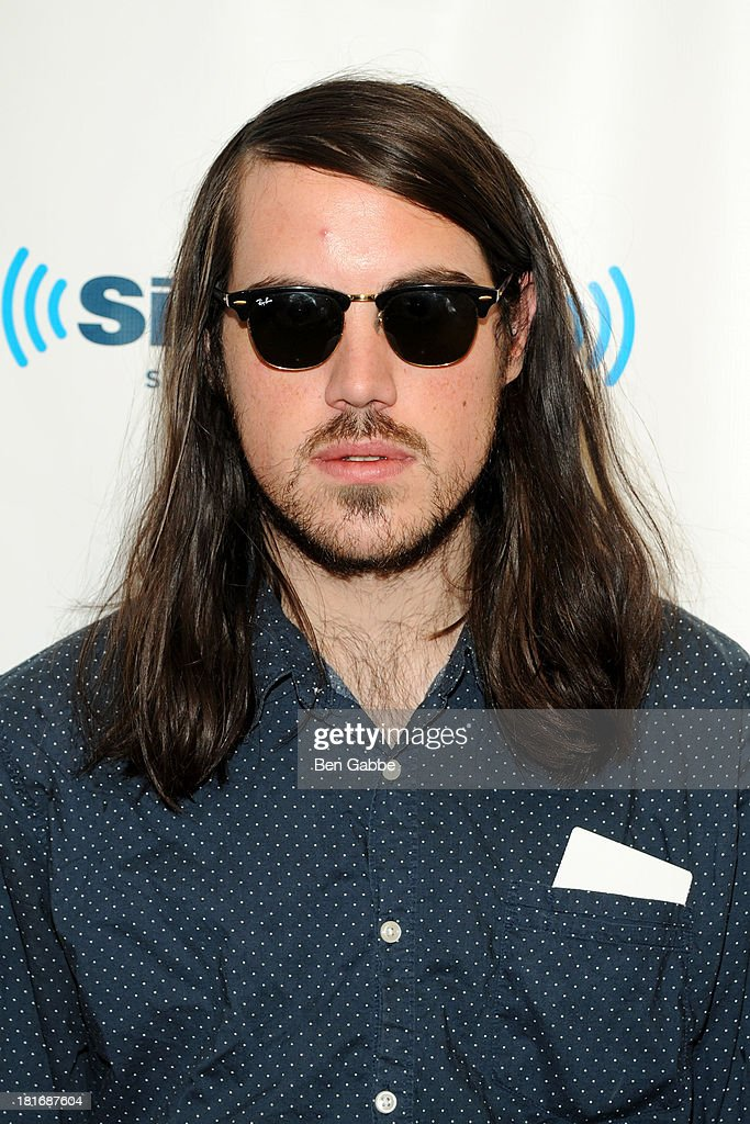 Brian Oblivion of the indie pop band the Cults poses SiriusXM Studios on September 23, 2013 in New York City.