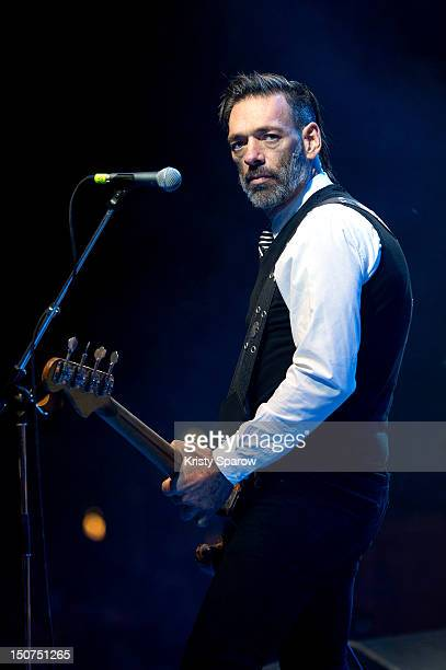 Brian O'Connor of Eagles of Death Metal performs onstage during the 10th annual Rock En Seine Festival at the Domaine National de SaintCloud park on...