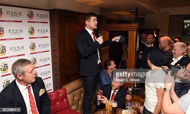 Brian O'Driscoll attends Thomas Pink's Pink Lion Rugby Club 'An Evening of Lions Tales' event to celebrate their sponsorship of the British Irish...