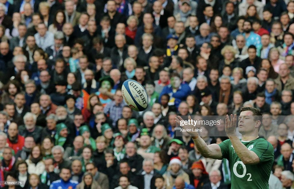 Brian O'Driscoll during the RBS 6 Nations match between France and Ireland at Stade de France on march 15, 2014 in Paris, France.