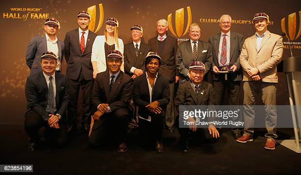 Brian O'Driscoll of Ireland Jeremy Guscott of England Maggie Alphonsi of England Akira Shimazu of Japan2016 Shane Williams of Wales Lawrence...