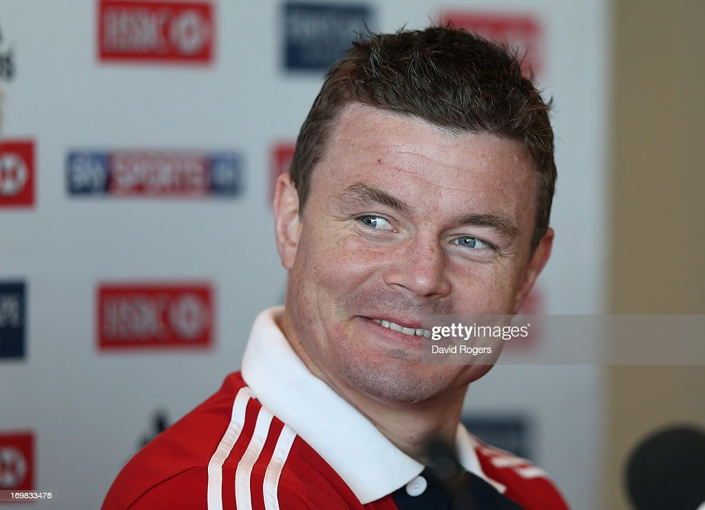 <a gi-track='captionPersonalityLinkClicked' href=/galleries/search?phrase=Brian+O%27Driscoll&family=editorial&specificpeople=194745 ng-click='$event.stopPropagation()'>Brian O'Driscoll</a> smiles as he is announced as match captain for the match against Western Force during the British and Irish Lions media conference held at the Convention Centre on June 3, 2013 in Perth, Western Australia.