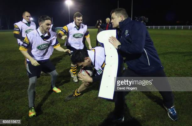 Brian O'Driscoll the former British Irish Lion and Land Rover ambassador takes part in a surprise training session with Whitton Lions RFC on...