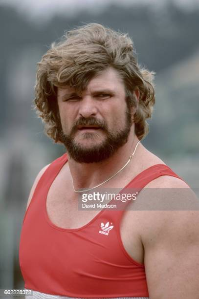 Brian Oldfield of the USA competes in the Men's Shot Put event of the 1980 USA Track and Field Olympic Trials held during June 1980 at Hayward Field...