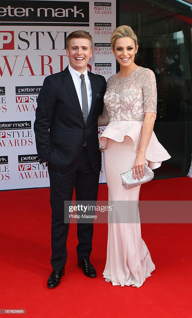 Brian Ormond and Pippa O'Connor attend the Peter Mark VIP Style Awards at Marker Hotel on April 26, 2013 in Dublin, Ireland.