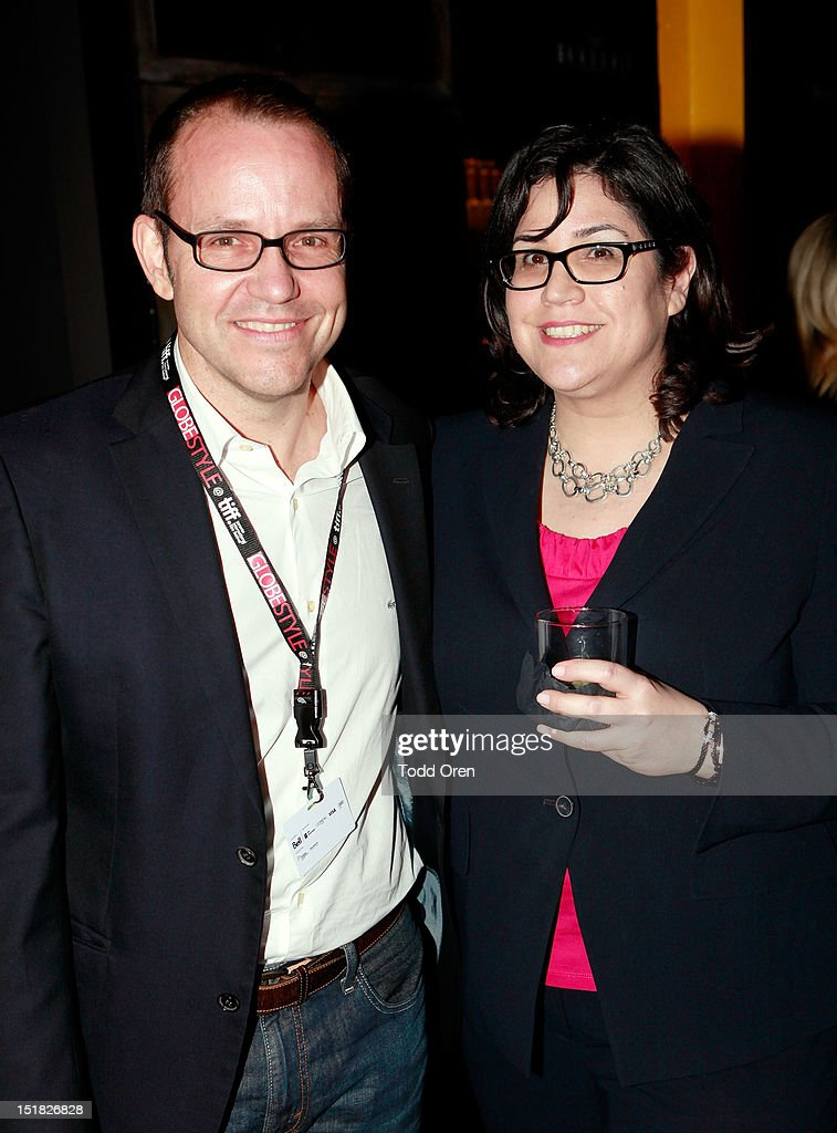 Brian O'Shea (L) and Maria Cestone attend the Worldview Entertainment Cocktail Party and Dinner at Brassaii Restaurant and Lounge during the 2012 Toronto International Film Festival at Brassaii on September 11, 2012 in Toronto, Canada.