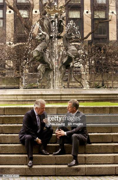 Brian Paddick the Assistant Deputy Commissioner for the Metropolitan Police chats with Conservative Mayoral Candidate Steve Norris outside the House...