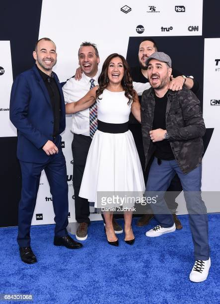 Brian Quinn James Murray Sal Vulcano Joe Gatto and Donna Speciale attend the 2017 Turner Upfront at Madison Square Garden on May 17 2017 in New York...