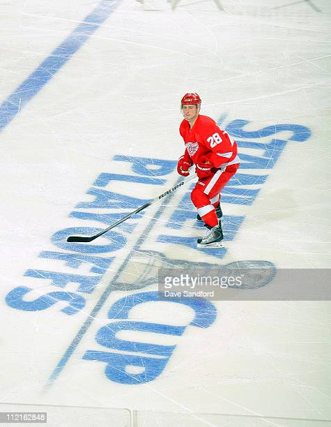 Brian Rafalski of the Detroit Red Wings skates against the Phoenix Coyotes in Game One of the Western Conference Quarterfinals during the 2011 NHL...