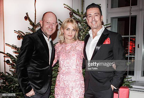 Brian Rennie Claudia GuggerBessinger and Ferdinand Rennie attend the Passauer Runde Hosts Christmas Charity on December 05 2014 in Passau Germany