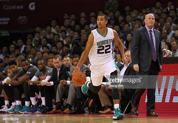 Brian Roberts of Charlotte Hornets handles the basketball during the match between Charlotte Hornets and Los Angeles Clippers as part of the 2015...