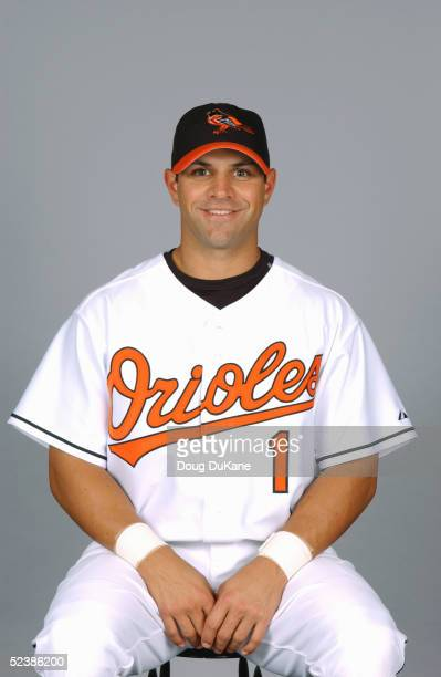 Brian Roberts of the Baltimore Orioles poses for a portrait during photo day at Ft Lauderdale Stadium on February 28 2005 in Ft Lauderdale Florida