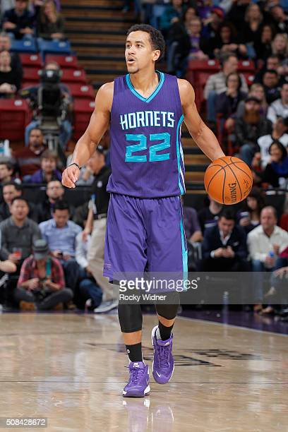 Brian Roberts of the Charlotte Hornets brings the ball up the court against the Sacramento Kings on January 25 2016 at Sleep Train Arena in...