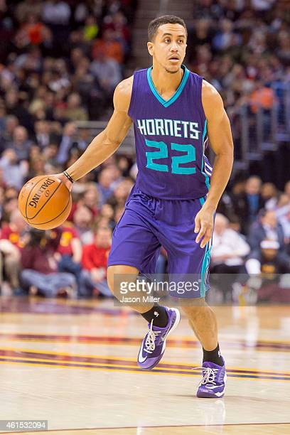 Brian Roberts of the Charlotte Hornets drives down the court during the first half against the Cleveland Cavaliers at Quicken Loans Arena on December...
