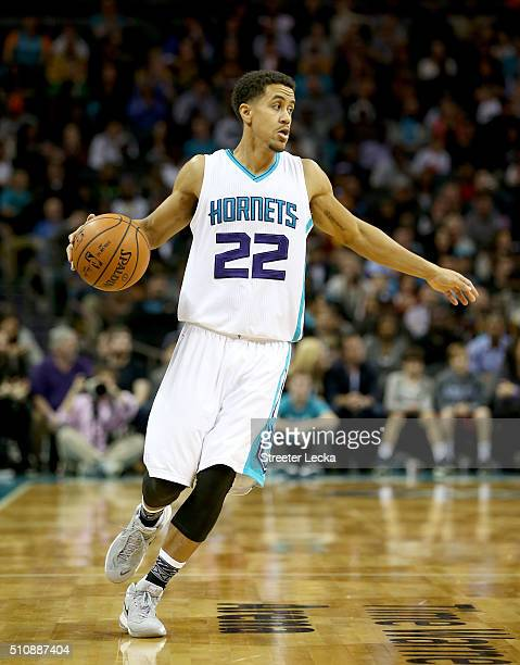 Brian Roberts of the Charlotte Hornets during their game at Time Warner Cable Arena on February 3 2016 in Charlotte North Carolina NOTE TO USER User...