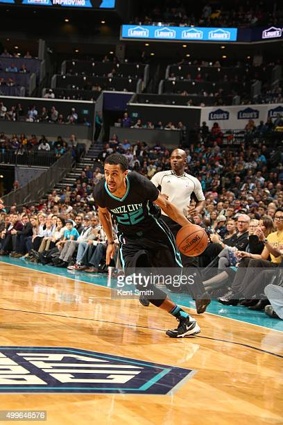Brian Roberts of the Charlotte Hornets handles the ball against the Golden State Warriors on December 2 2015 at Time Warner Cable Arena in Charlotte...