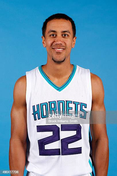 Brian Roberts of the Charlotte Hornets poses for media day at the Time Warner Cable Arena on February 4 2015 in Charlotte North Carolina NOTE TO USER...