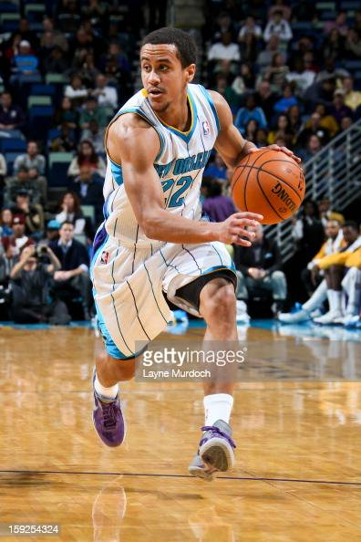 Brian Roberts of the New Orleans Hornets drives against the San Antonio Spurs on January 7 2013 at the New Orleans Arena in New Orleans Louisiana...