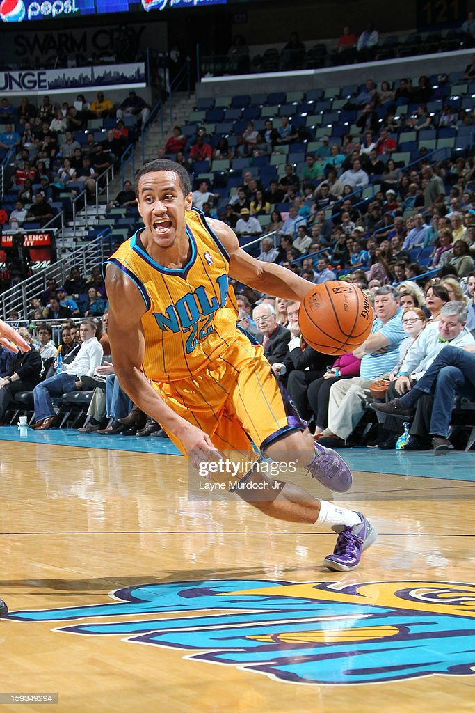 Brian Roberts #22 of the New Orleans Hornets drives to the basket against the Minnesota Timberwolves on January 11, 2013 at the New Orleans Arena in New Orleans, Louisiana.
