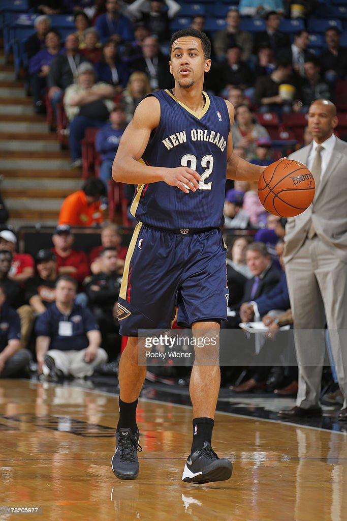 Brian Roberts #22 of the New Orleans Pelicans brings the ball up the court against the Sacramento Kings on March 3, 2014 at Sleep Train Arena in Sacramento, California.