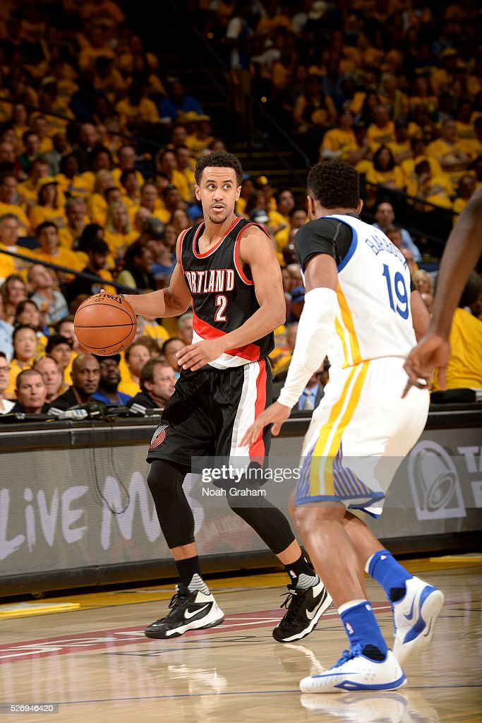 Brian Roberts #2 of the Portland Trail Blazers handles the ball during the game against the Golden State Warriors in Game One of the Western Conference Semifinals during the 2016 NBA Playoffs on May 1, 2016 at ORACLE Arena in Oakland, California.