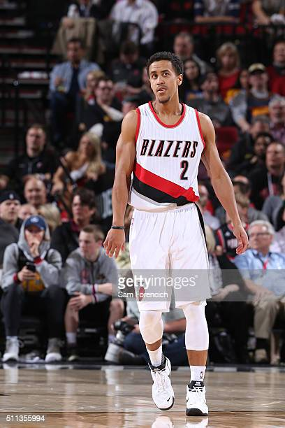 Brian Roberts of the Portland Trail Blazers is seen during the game against the Golden State Warriors on February 19 2016 at the Moda Center in...