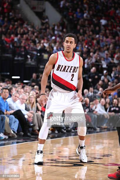 Brian Roberts of the Portland Trail Blazers stands on the court against the Golden State Warriors on February 19 2016 at the Moda Center Arena in...