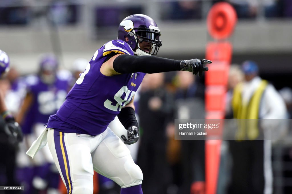 c3833a510 ... Brian Robison 96 of the Minnesota Vikings celebrates a sack during the  second quarter of Nike ...