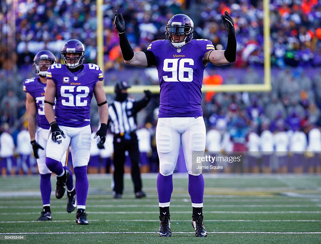 f5fb350f9 ... Jersey Nike NFL Limited Mens 2017 Salute to Brian Robison sends message  to fans after contract extension Brian Robison 96 of the Minnesota Vikings  ...