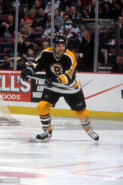 Brian Rolston of the Boston Bruins skates on the ice during an NHL game against the New Jersey Devils on April 6 2001 at the Continental Airlines...