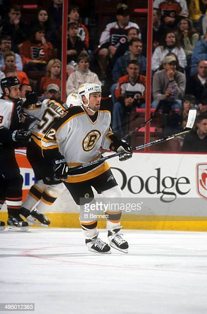 Brian Rolston of the Boston Bruins skates on the ice during an NHL game against the Philadelphia Flyers on October 7 2000 at the Wells Fargo Center...